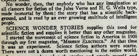 Gernsback-Science Wonder Stories